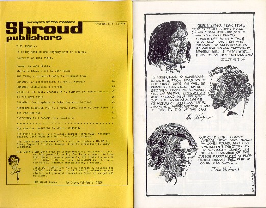 Intro Page From Original 1971 Edition of GORY STORIES QUARTERLY