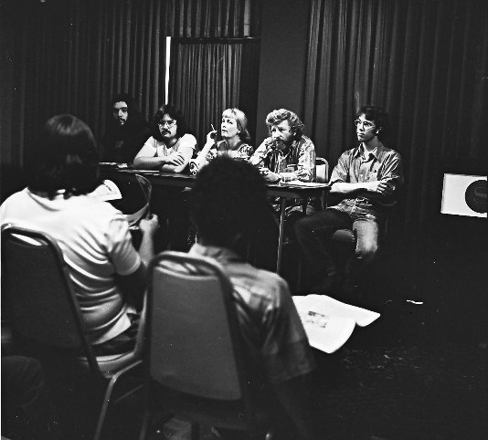 Scott Shaw!, Ken Krueger, and John Pound on 1973 Comic-Con Panel
