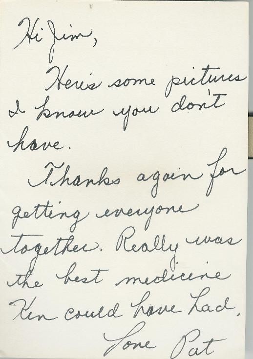 Patty's card to Jim Valentino: Note